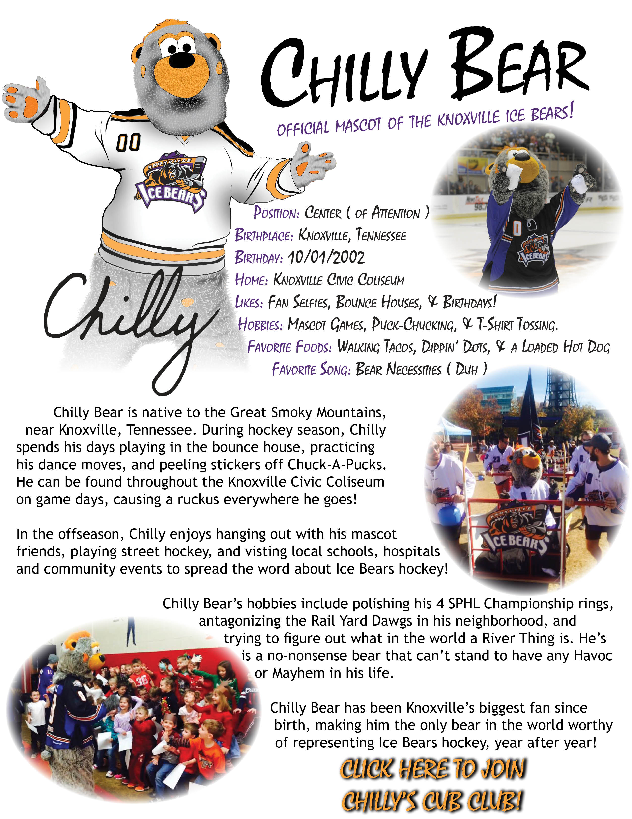 Chilly Bear WEBSITE PAGE