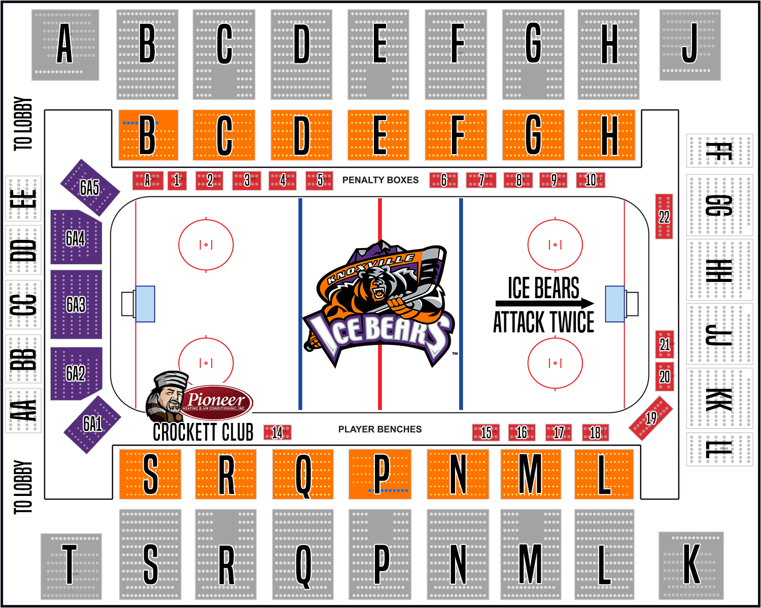 Knoxville Ice Bears Seating Chart